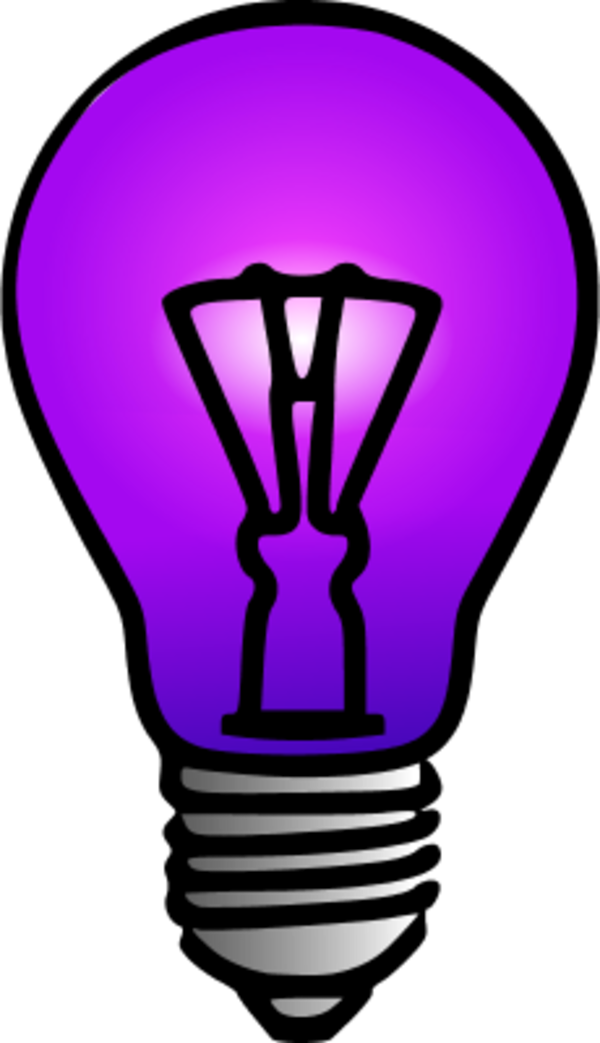 600x1043 Light Bulb Clipart Purple