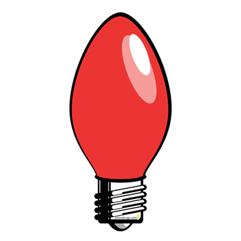 350x350 Light Bulb Clipart Red Christmas