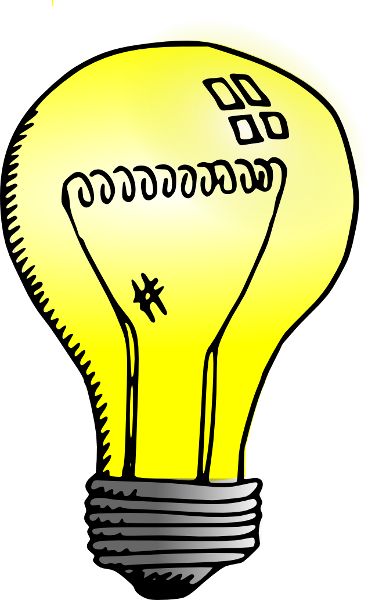 368x600 Light Bulb Clipart Transparent Background