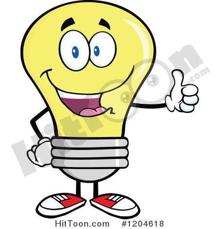 450x470 Yellow Light Bulb Clipart
