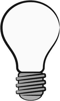 232x390 Drawn Light Bulb Clipart