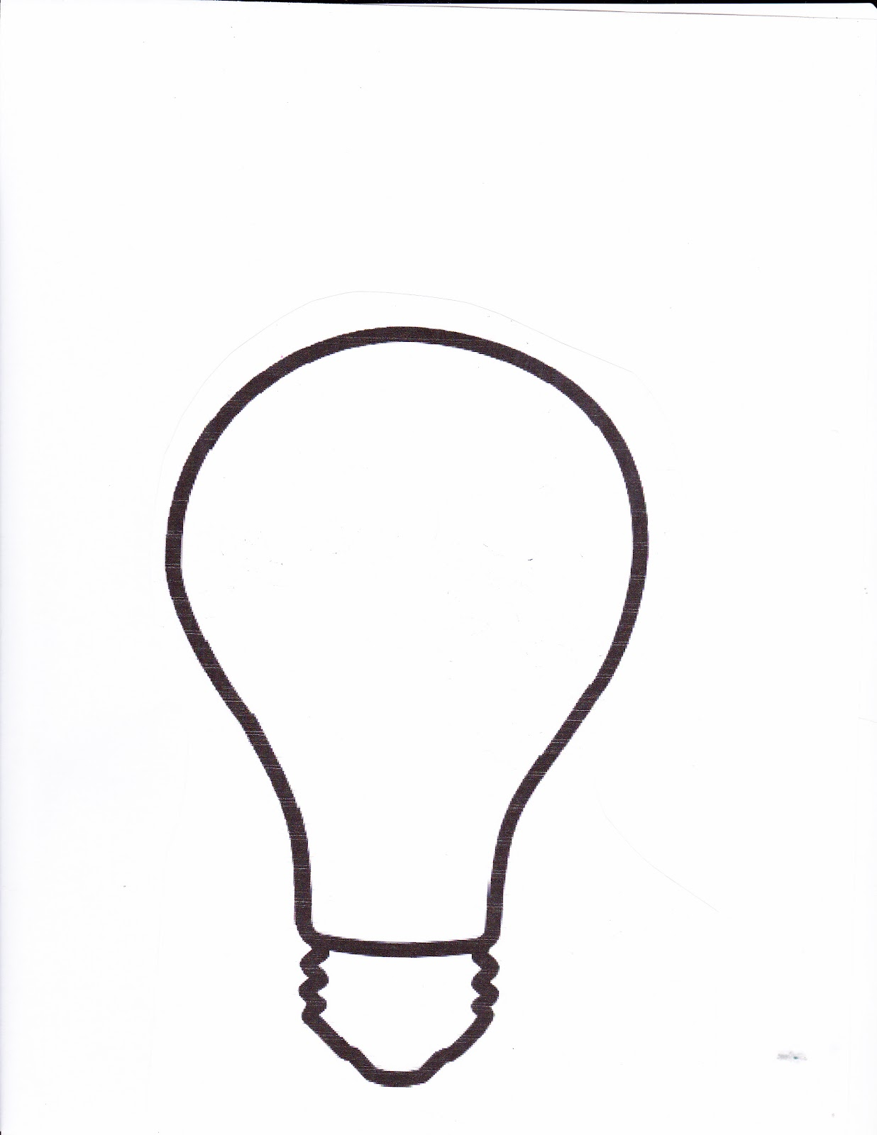 1236x1600 Gallery For Gt Light Bulb Writing Template, Light Bulb For Story