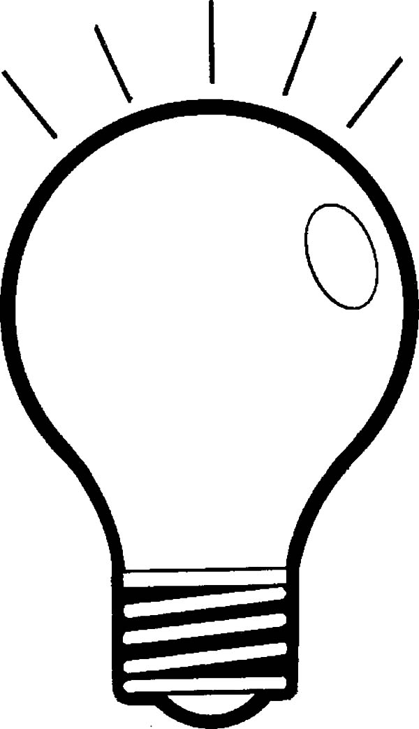 600x1043 Light Bulb Shine Coloring Pages Light Bulb Shine Coloring Pages