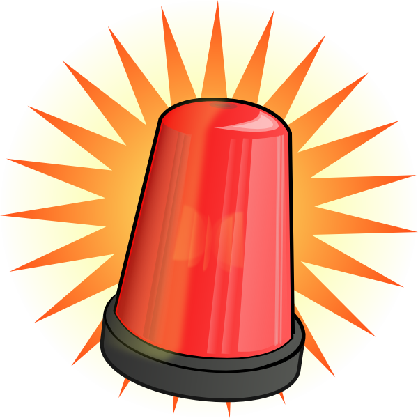 600x600 Orange Light Alarm Clip Art