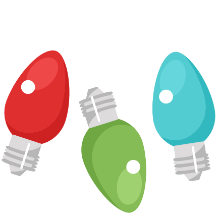 432x432 Christmas Light Bulb Clip Art