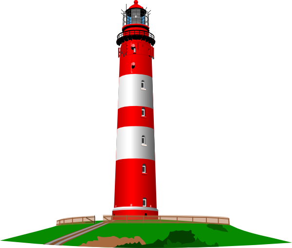600x510 Red And White Lighthouse Clip Art