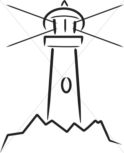 497x612 Simplistic Lighthouse Christian Symbols