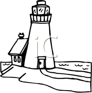 297x300 Art Image Black And White Lighthouse