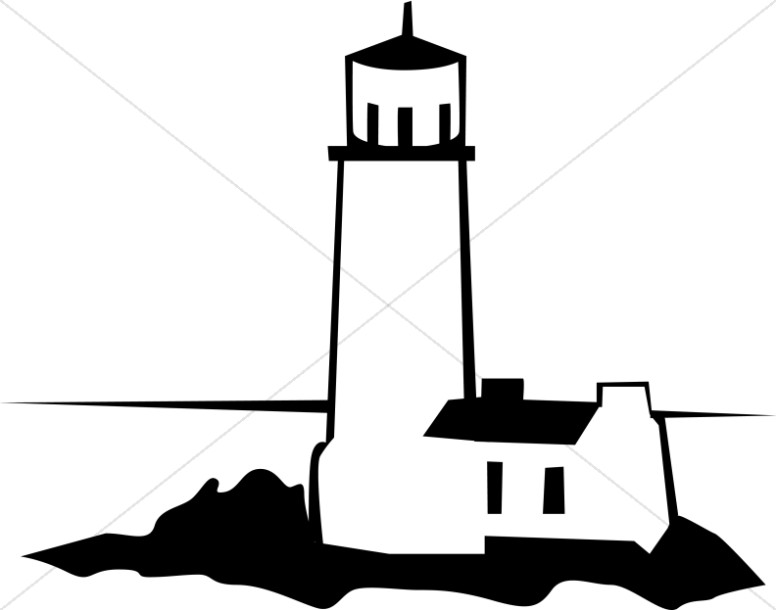 776x610 Black And White Lighthouse Christian Symbols
