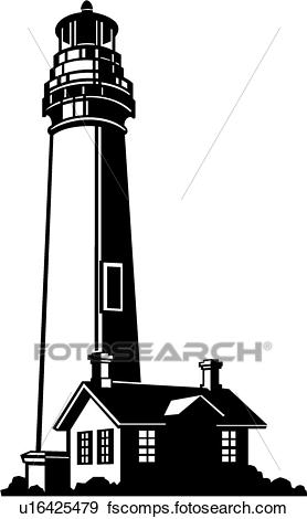 278x470 Clip Art Of Lighthouse U16425479
