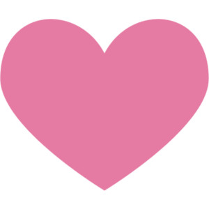 300x300 Heart Clipart Light Pink
