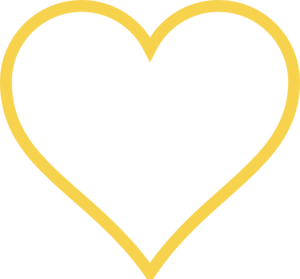 300x279 Light Gold Heart Clip Art