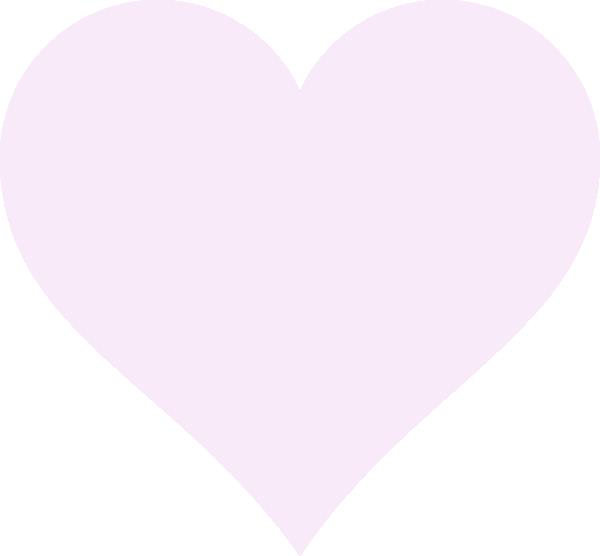 600x556 Light Pink Heart Clip Art