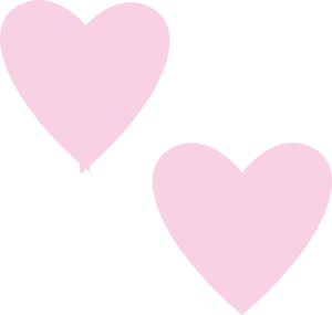 300x285 Light Pink Heart Clipart Letters