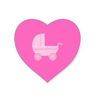 324x324 Baby Light Pink Heart Stickers Zazzle