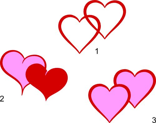 500x393 Light Pink Double Hearts Clip Art