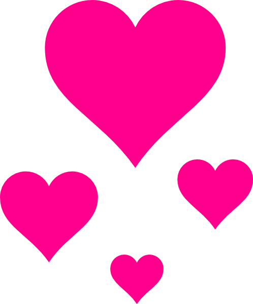 498x597 Little Pink Heart Clipart