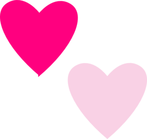 298x282 Pink Double Hearts Clip Art