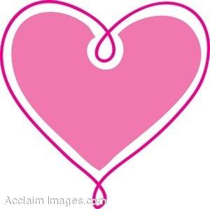 300x298 Pink Heart Clip Art