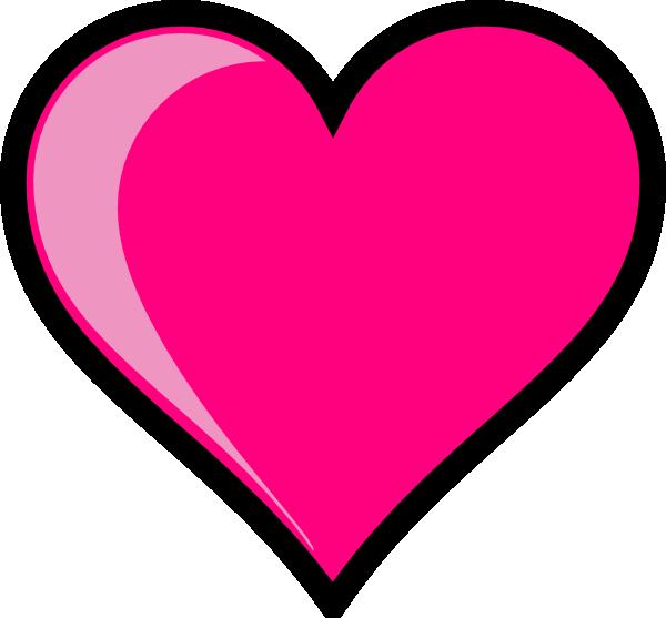 600x557 Pink Heart Clipart