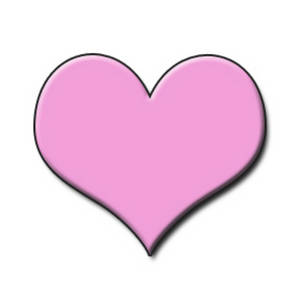 300x300 Clipart Picture Of A Light Pink Embossed Heart