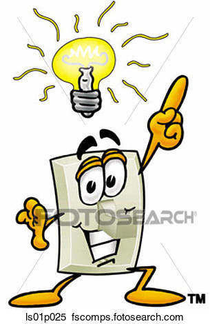 305x470 Clipart Of Light Switch With Bright Idea Ls01p025