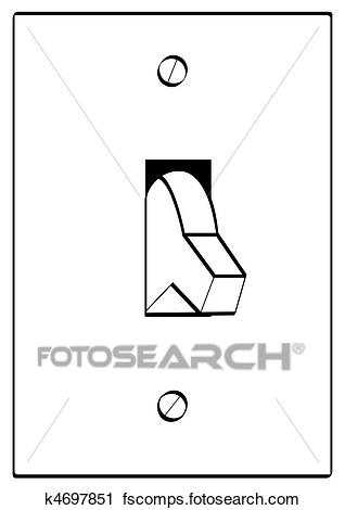 318x470 Clipart Of Outline Of Light Switch Turned To Off K4697851