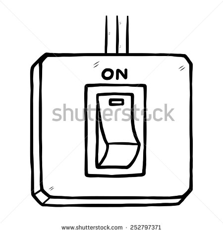 450x470 Electric Switch Clipart