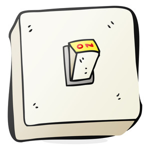 300x300 Freehand Drawn Cartoon Light Switch Royalty Free Stock Image