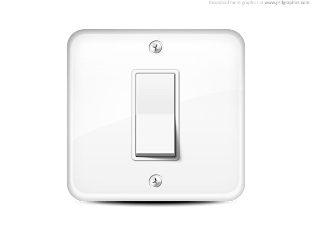 610x458 Light Switch Icon, Vector Image
