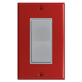 285x285 Red Switch Plates, Red Outlet Covers, Decora Rocker Wall Switchplates