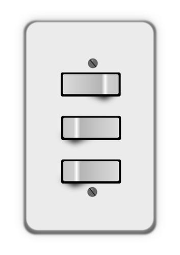353x500 Three Light Switches Public Domain Vectors