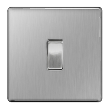 360x365 Bg Nexus Brushed Steel Screwless Light Switch 1g Fbs12 Rs