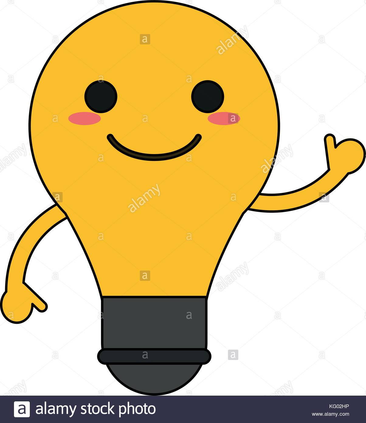 1204x1390 Happy Light Bulb Cartoon Stock Vector Images