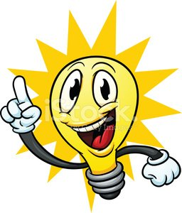 256x300 Cartoon Lightbulb premium clipart