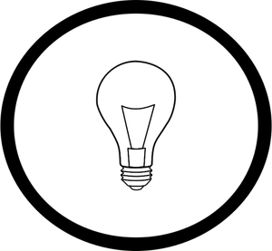 Lightbulb Clipart Black And White