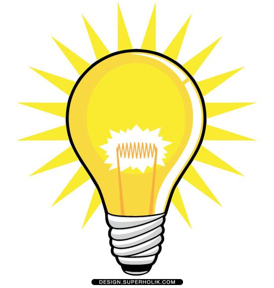 551x580 Clipart Light Bulb