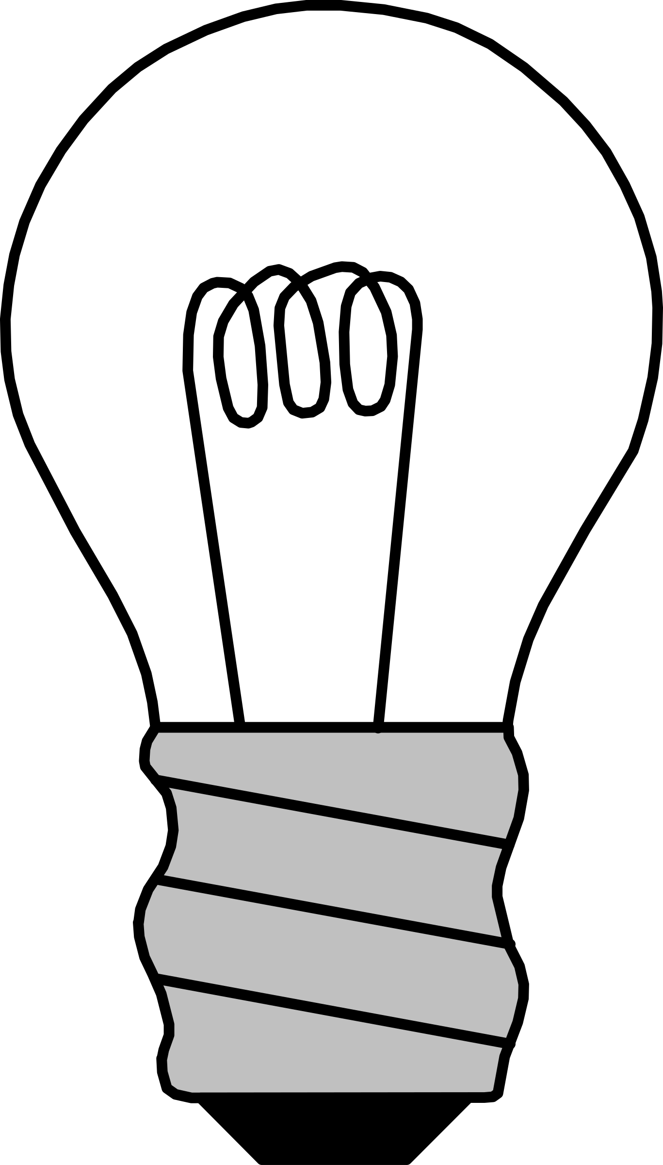 1367x2400 Drawn Bulb Coloring Page