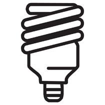 210x210 Fluorescent Light Bulbs Clipart