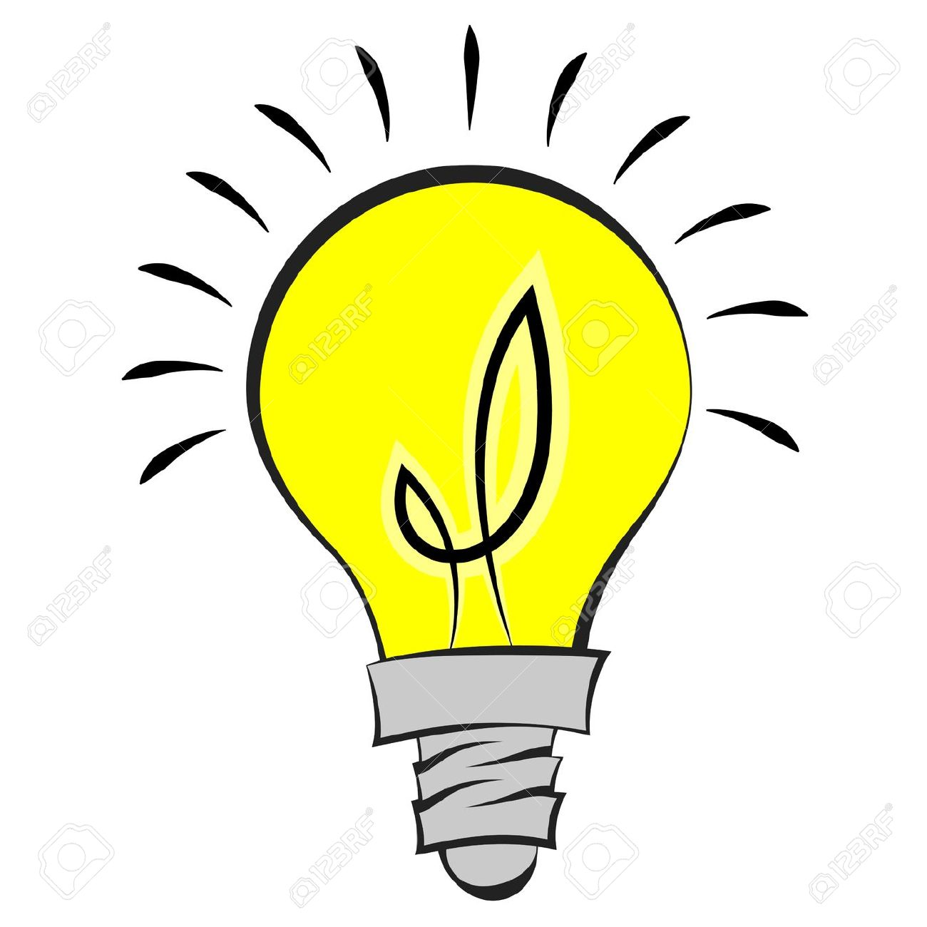 1300x1300 Free Clipart For A Light Bulb
