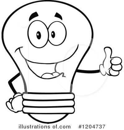 Lightbulb Clipart Black And White | Free download best ...