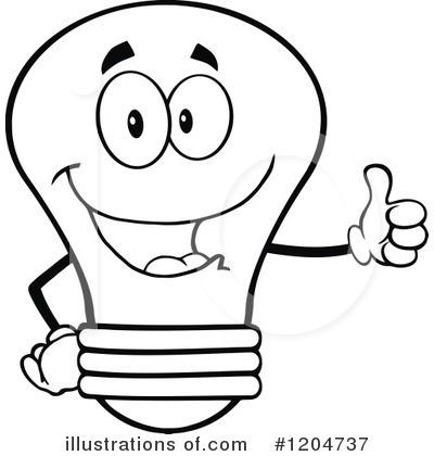400x420 Light Bulb Clipart Face