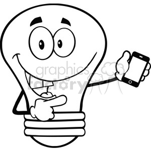 300x300 Royalty Free 6162 Royalty Free Clip Art Light Bulb Character