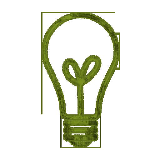 512x512 Light Bulb Clip Art Black And White 082075 Green Grunge Clipart