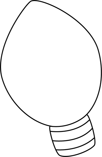 327x500 Christmas Light Bulb Clip Art