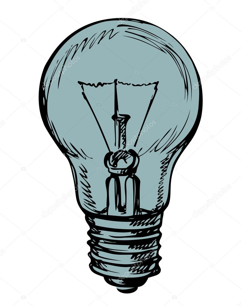 806x1024 Light Bulb. Vector Drawing Stock Vector Marinka