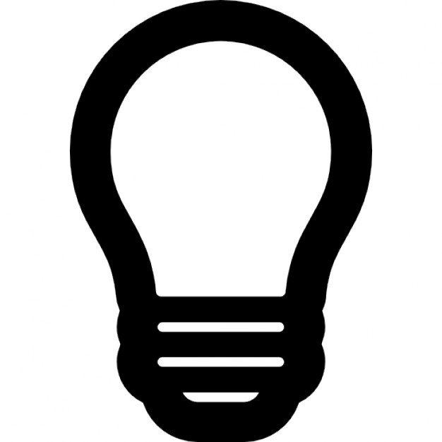 626x626 Lightbulb Outline Icons Free Download