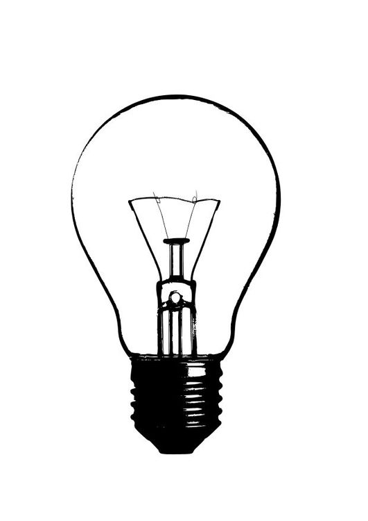 531x750 Coloring Page Light Bulb Color Page Light Bulb