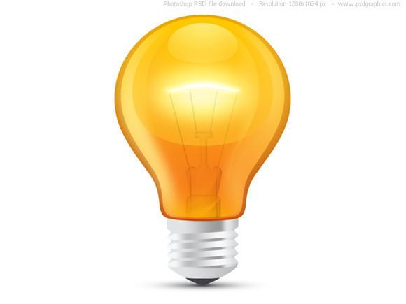 580x435 Glossy Orange Light Bulb Clipart Panda