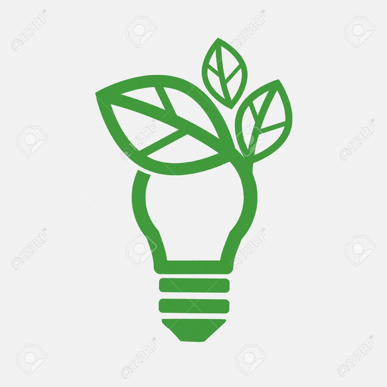 1300x1300 Green Concept Light Bulb Vector Illustration Royalty Free Cliparts
